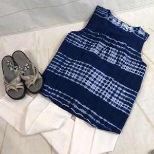 NWOT Sonoma 100% Cotton Tie Dye Sleeveless Top L